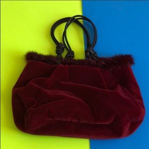 Hype Red Feather Hand Bag